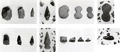 石器の製作過程