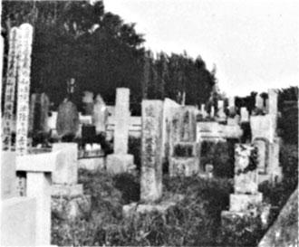 八幡の長尾藩士共同墓地