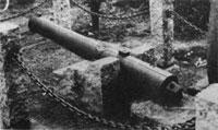 藩士が奉納した大砲