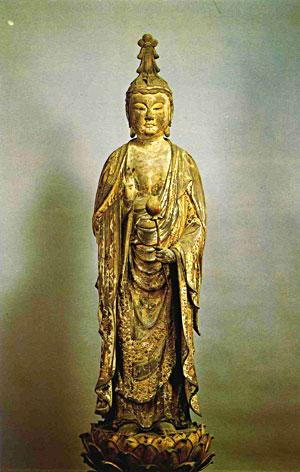 木像聖観音菩薩立像