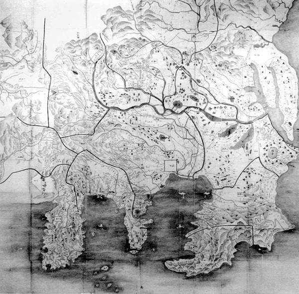 関東八カ国絵図