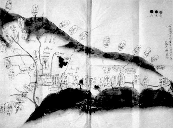 真倉村・宮城村組二十二カ村組合村絵図