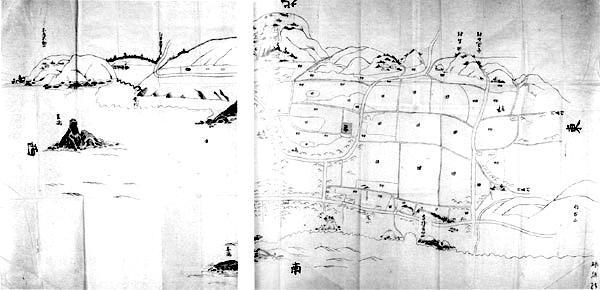 船形村絵図