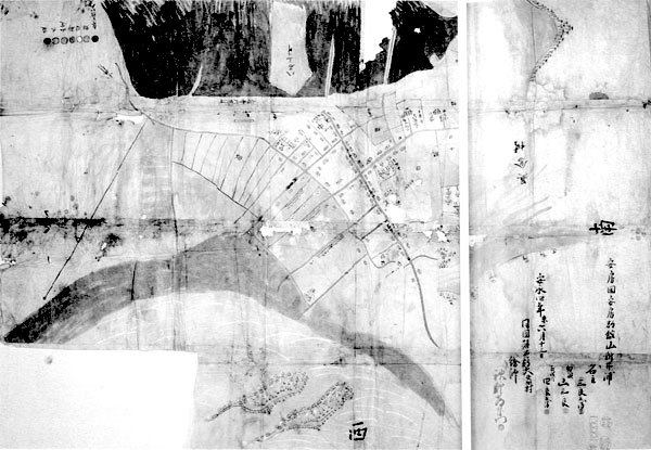 新井浦絵図 安永4年(1775)