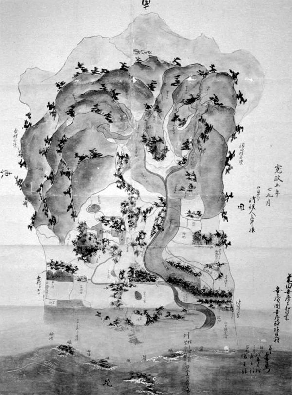 塩見村絵図 寛政5年(1793)