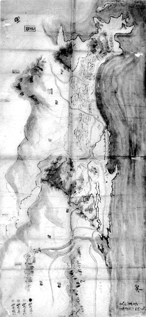 波左間村絵図 文化5年(1808)