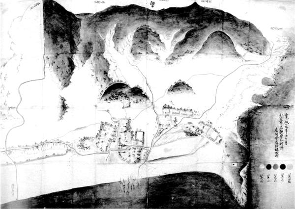 坂田村絵図 寛政元年(1789)
