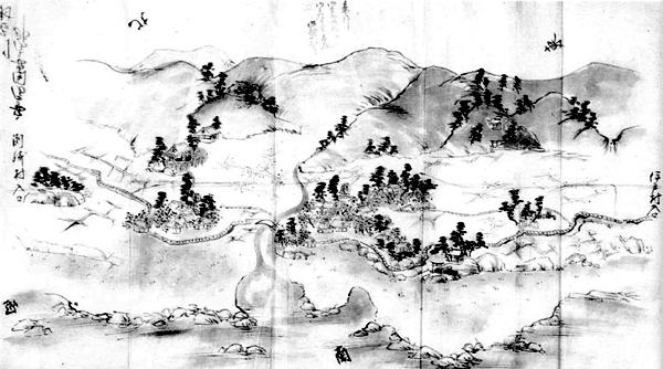 川名村(現西川名)絵図