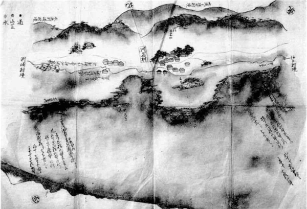 川名村絵図