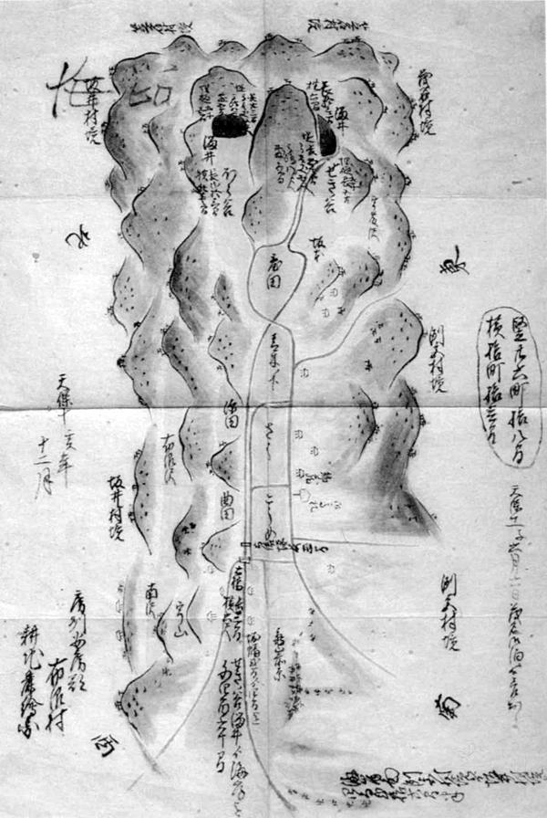 布沼村絵図 天保10年(1839)