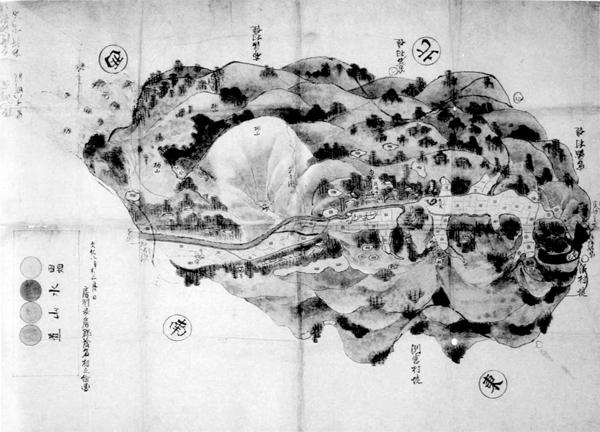 茂名村絵図 文化8年(1811)