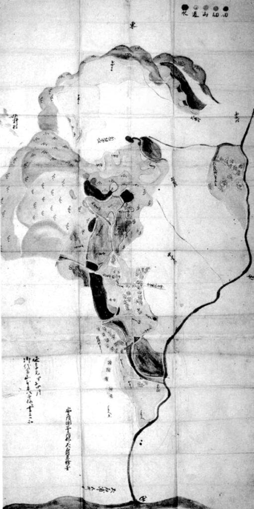 犬石村絵図 延享元年(1744)