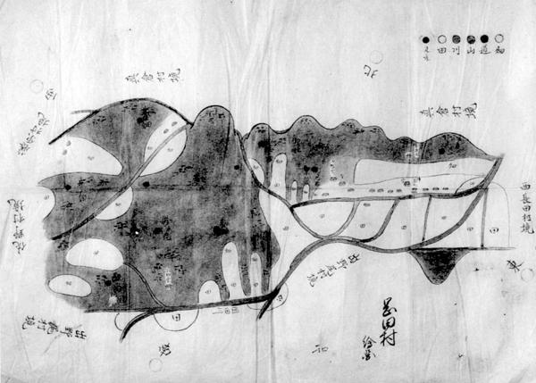 岡田村絵図