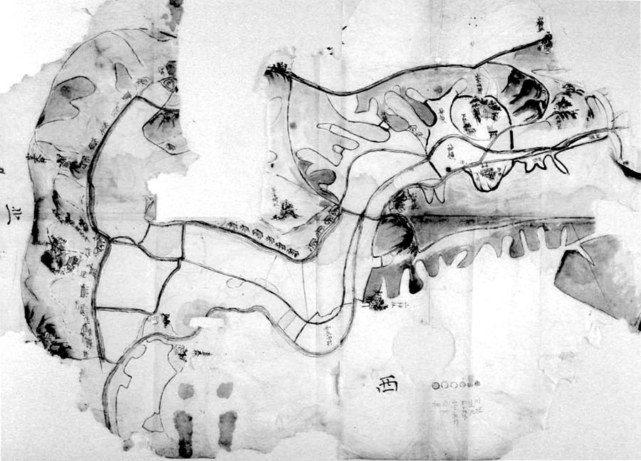 東長田村絵図