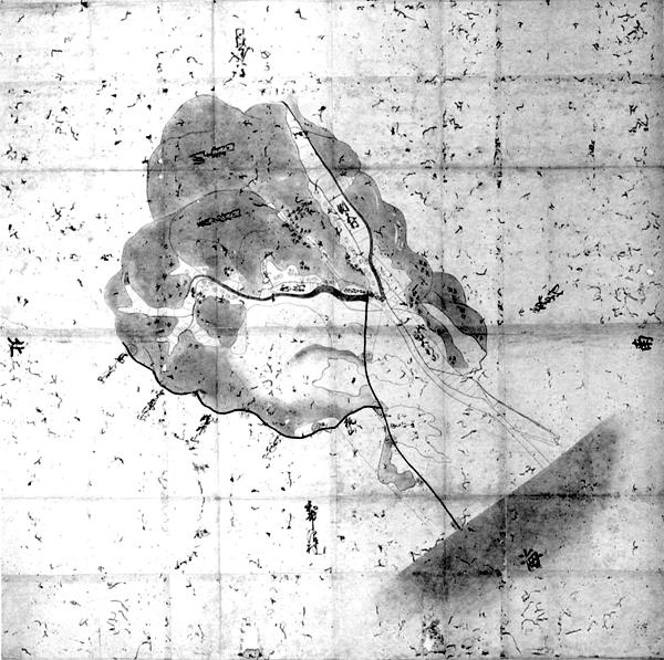 洲宮村・茂名村・布沼村浜論裁許絵図 正徳3年(1713)