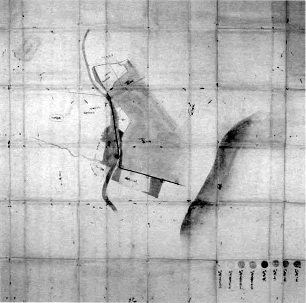 新井浦・館山下町・長須賀村境論裁許絵図 安永6年(1777)