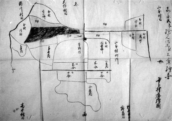国分村検見差出絵図 嘉永5年(1852)