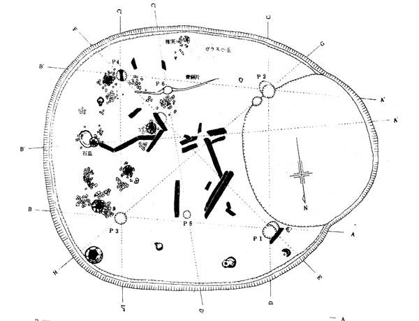 田子台遺跡第2号住居跡実測図