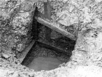 ほりだされた井戸の跡(鋸南町下ノ坊遺跡)