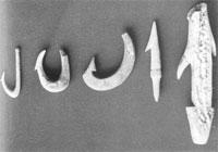 釣針・ヤス・銛(館山市鉈切洞穴) 縄文時代