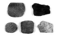 土器片錘(館山市鉈切洞穴) 縄文時代