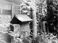 館山市古茂口日枝神社の石棒
