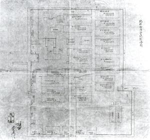 87.北条御陣営地割略図