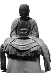 木造地蔵菩薩坐像 総高44.3cm 南北朝期の法衣垂下像  源慶院蔵