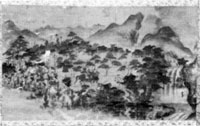 里見義実亀山神社参詣図 亀山神社蔵