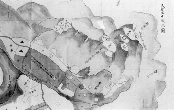 2.久留里古城地図<部分>