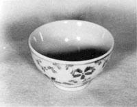淡黄緑釉茶碗