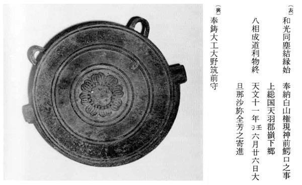 20.真里谷全芳奉納鰐口(天文11年)