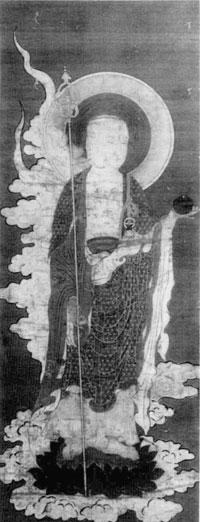 44.絹本著色地蔵菩薩画像