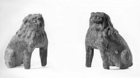 5.□木製狛犬
