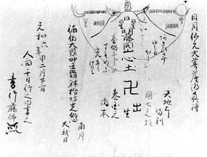 18 伝角行藤仏筆伝書巻物