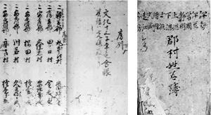 44 須山口富士山導者姓名簿