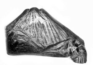54 富士山木型