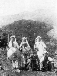 昭和元年の富士登山写真