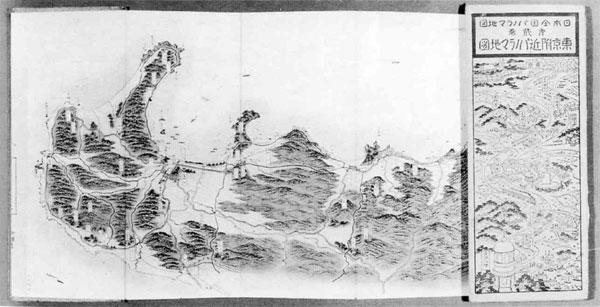76.東京付近パノラマ地図「北条線」(大正11年)