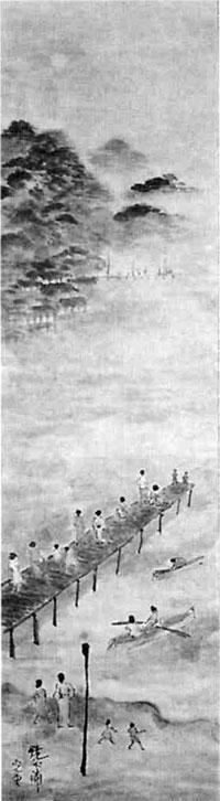 122.同「鏡ケ浦の夕景」