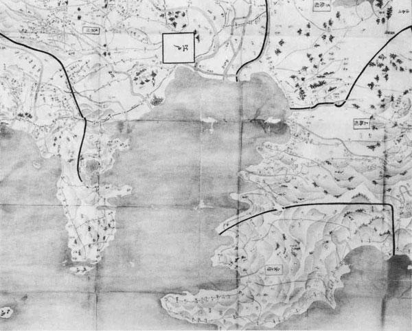 1.関東八ヶ国絵図(部分)
