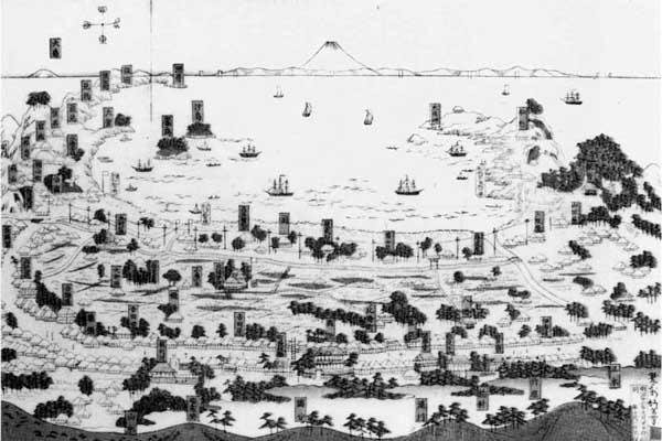 3.房州鏡浦略図 明治22年(1889年)