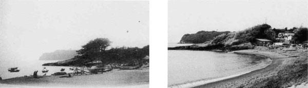 11.舟形堂の下の海岸から大房岬を望む。