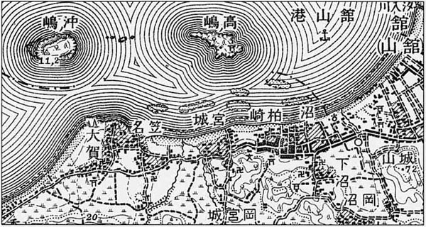 38.五万分一地形図「北条」 明治36年測量
