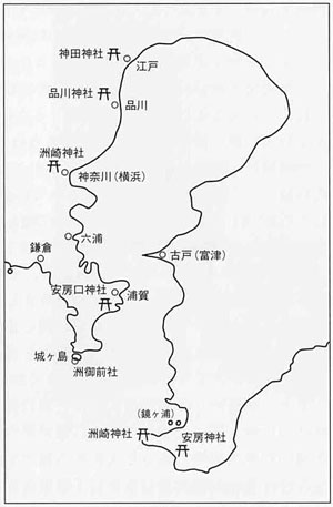 中世東京湾の湊と洲崎ゆかりの神社