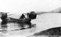 88.那古海岸の漁船(大正時代)
