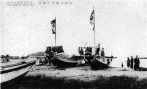 89.館山海岸の漁船(昭和初期)