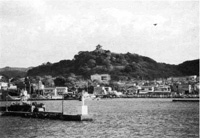 館山城跡と館山港