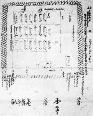 112.武蔵忍藩安房北条陣屋図