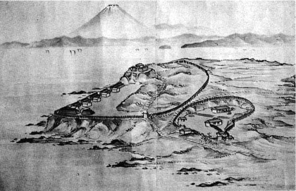116.洲崎御台場図(『砲台縮図絵巻』) 安政4年(1857)
